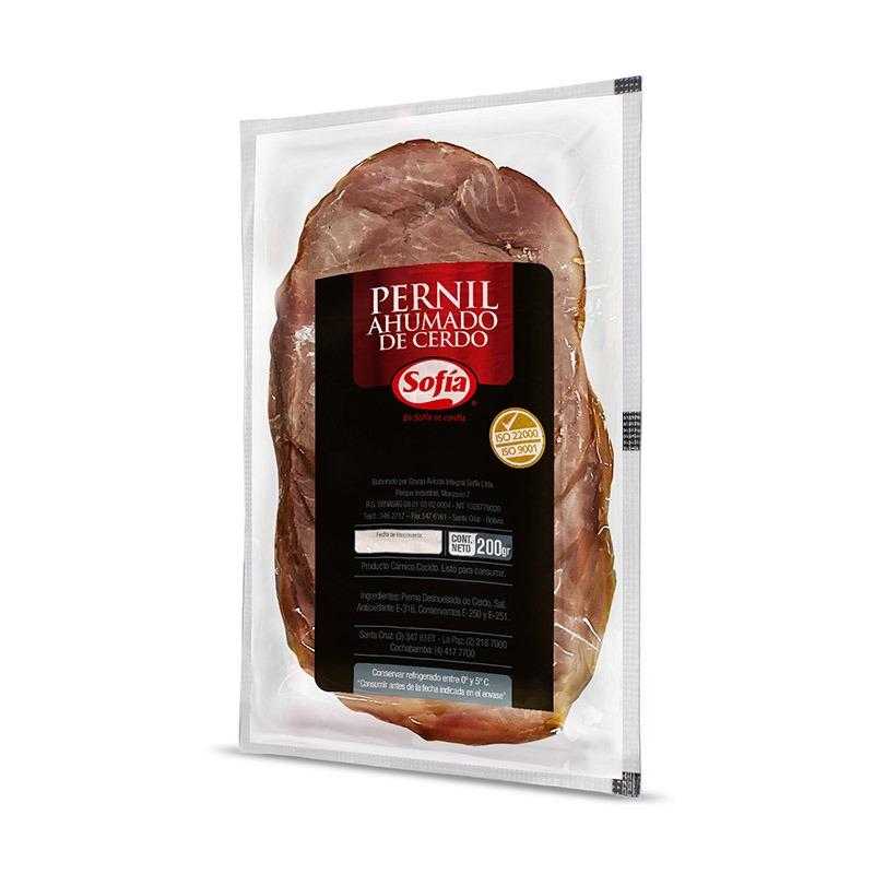 Pernil ahumado feteado 200 g al vacio