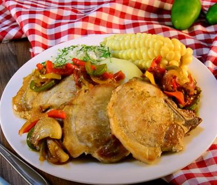 Práctica Receta de Chuleta de Cerdo Sofía con Chorrellana