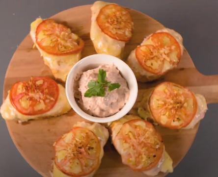 Receta de Crostinis de Atún El Faro con queso gratinado