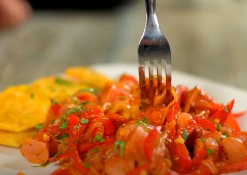 Práctica receta de chorrellana con salchicha Viena Sofía