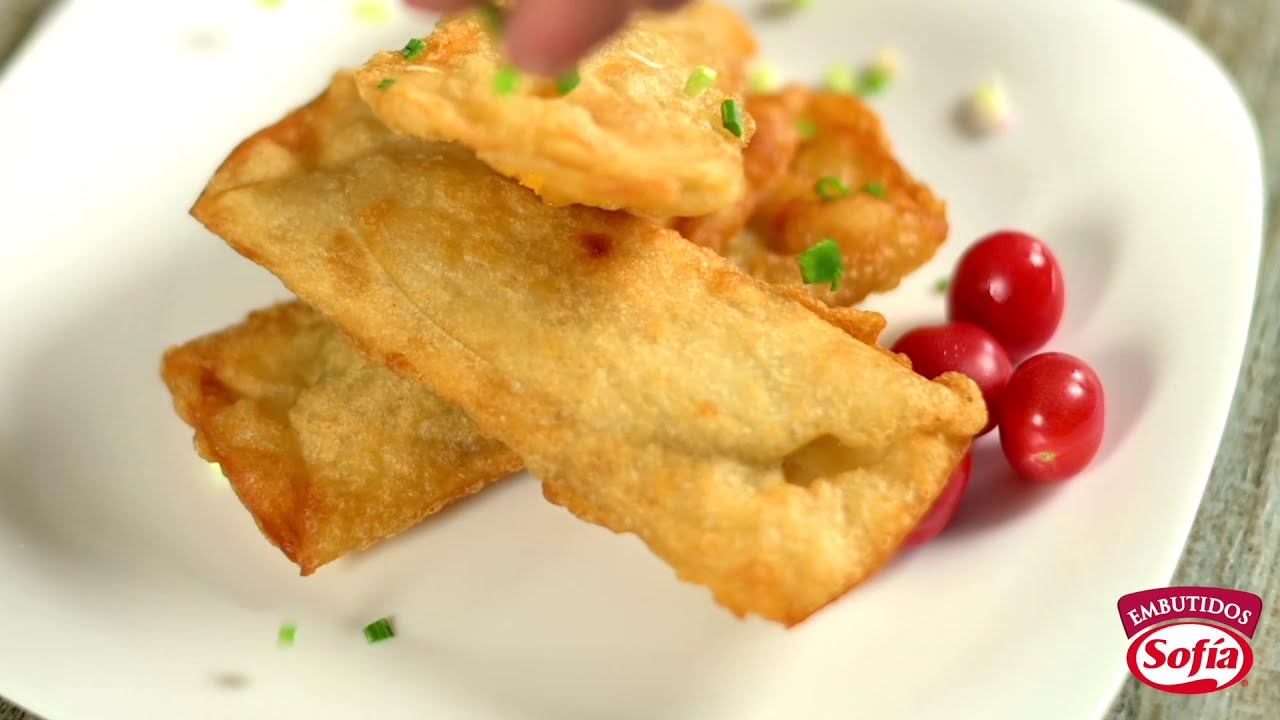 Sencilla receta de quesadilla tempura con salame