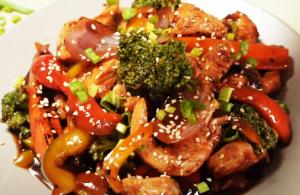 Saludable Receta Salsa Teriyaki Stir Fray de pavo