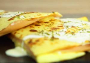 Deliciosa receta de Crepes de jamón de pavo con queso