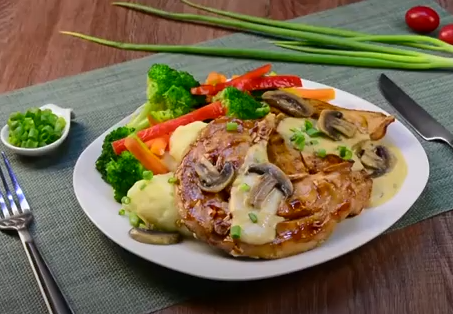 Práctica receta de Medallones de Pavo al champiñón