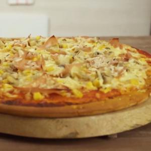 Aprende a hacer Pizza de jamón de pavo desde la masa