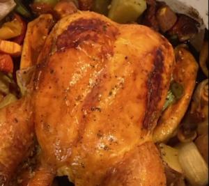 Pollo con verduras