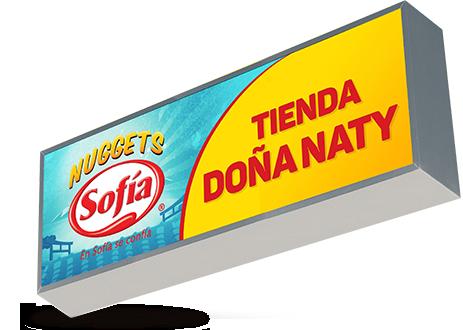 Letrero Sofía Nuggets